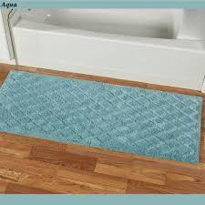 Aqua Bathroom Rugs by Splendor 60 Inch Wide Plush Bath Rug Runner
