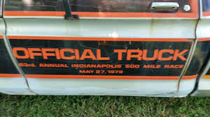Classic Ford Truck Decals - indy 500 rarity 1979 ford f100 official truck replica