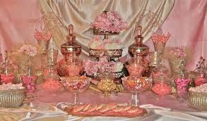 Pink And White Candy Buffet by Wedding Blosson Dessert Table Ideas Pink Gold Cherry Blossom