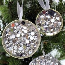 simple recycled rhinestone diy ornaments mod podge rocks