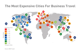 Mcdonalds In America Map by Business Travel Costs Around The World New Map U0026 Graphs