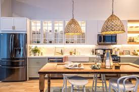 Gorgeous Kitchens Diy Stainless Steel Pendant Lamp Beige Painting Kitchen Cabinet