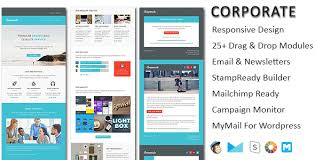 templates for newsletters corporate responsive email newsletter templates by pennyblack