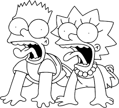 simpsons coloring pages bestofcoloring com