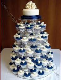 wedding cake and cupcakes royal blue wedding cupcakes blue cupcakes cupcake wrappers and