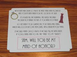 bridesmaid poems to ask lea wedding wednesday popping the question to