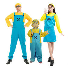 Despicable Halloween Costumes Toddler 2016 Children Men Women Minions Costume Halloween Anime Mini