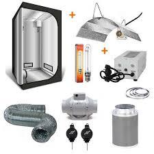 kit chambre culture kit de culture box 80x80x160cm chambre lumière extraction