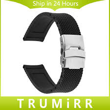 stainless steel buckle bracelet images Silicone rubber watchband 19mm 20mm 21mm 22mm for iwc men women jpg
