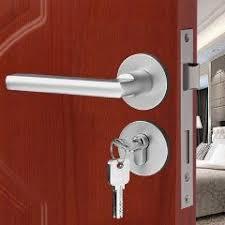 Bedroom Door Lock by Aluminium Material Rosette Door Locks Treasure Room Interior