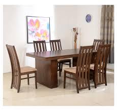 buy nilkamal newark 6 seater dining set walnut online at home