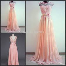online get cheap coral bridesmaid dress with sleeves aliexpress
