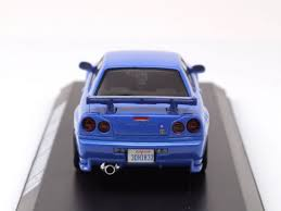 nissan skyline fast and furious 7 nissan skyline gt r 2002 blue brian fast u0026 furious model car 1