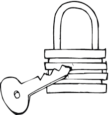 lock coloring pages