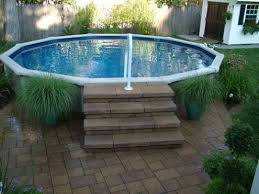 above ground pool deck ladder nucleus home