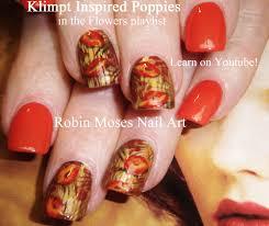 diy fall poppy nail design tutorial youtube