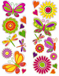 004butterflies and flowers wall stickers jpg