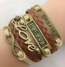 Popular Items For Love Anchors - hot infinity love anchor leather cute charm bracelet bronze diy