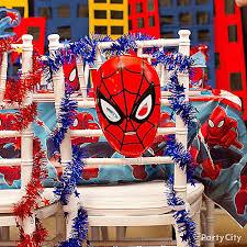 superhero wedding table decorations spider man chair deco diy table decorating ideas spider man