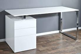 bureaux blanc laqué bureau blanc avec tiroir bureau oracle mdf blanc gris 1 tiroir et 1