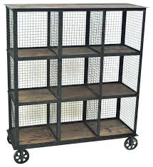 crestview industria metal and wood bookcase 37x13 5x41 5 view