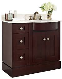 36 Inch Bathroom Vanities amimage 36 inch single transitional cherry wood veneer bathroom vanity