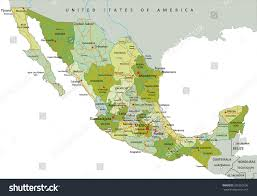 Political Map Of Mexico Highly Detailed Editable Political Map Separated Stock Vector