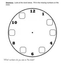 the clock worksheet 1 fill in