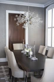 Transitional Dining Room Glass Chandeliers For Dining Room Chrome And Wood Dining Table