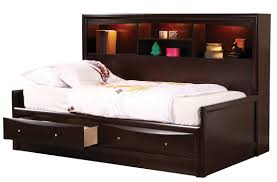 phoenix youth full daybed in cappuccino 400410f