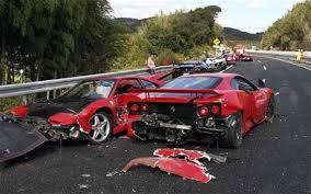 astonishing accident involving eight ferraris u0027world u0027s most