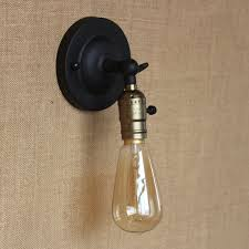 Edison Bulb Wall Sconce Wall Light Edison Bulb Mini Wall Lamp Knob Switch Loft American