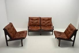 leather livingroom set leather living room set by torbjørn afdal for bruksbo 1960s for
