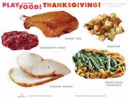 thanksgiving play food worksheet education