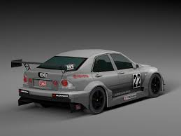 altezza car black race car toyota altezza 3d asset cgtrader