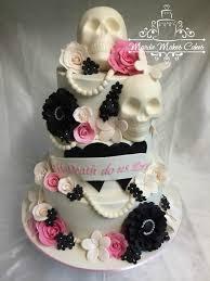 skull wedding cake toppers 10 pink skull themed wedding cakes photo skull wedding cake