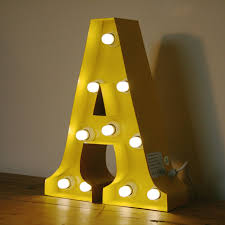 decorating unusual vintage marquee lights up letter h circus for