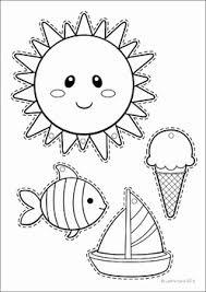 summer review preschool no prep worksheets u0026 activities sun fish