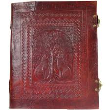 Leather Home Decor by Double Wolf Leather Journal With Latch 14 Inch Blank Book Wicca