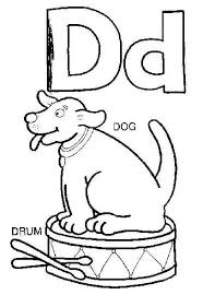 coloring pages for kids letter