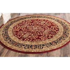 Round Red Rugs Round1 U0027 6 U0027 Round Area Rugs Rugs The Home Depot