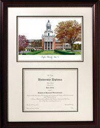 virginia tech diploma frame of connecticut graduate school diploma frame