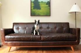Black Leather Mid Century Sofa Century Leather Furniture Mid Century Tufted Black Leather Sofa 1