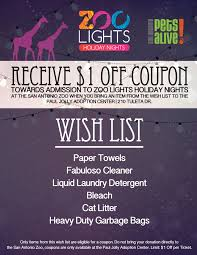 san antonio zoo lights coupon sapa san antonio pets alive zoo lights