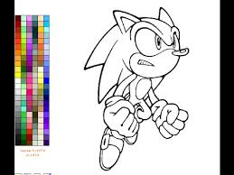 coloring page games sonic the hedgehog coloring pages for kids sonic the hedgehog