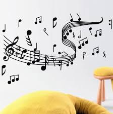 sticker home decor picture more detailed picture about musical musical note wall decals creative vinyl wall art sticker decor dance in the wind music notation
