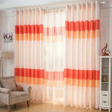 Orange White Curtains Cheap Orange Curtains Alluring Orange And White Curtains And
