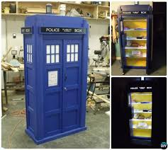 diy tardis bookshelf projects picture instructions