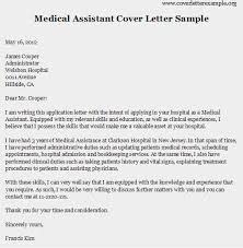 sample cover letter for medical assistant resume badak