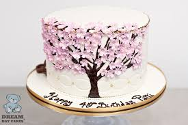 dogwood tree birthday cake bearkery bakery